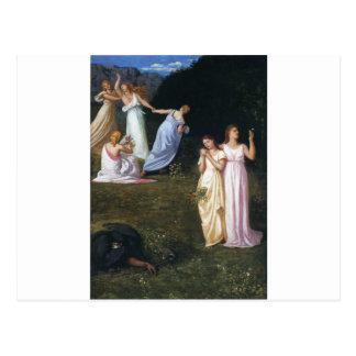 Död och jungfruarna av Pierre Puvis de Chavannes Vykort