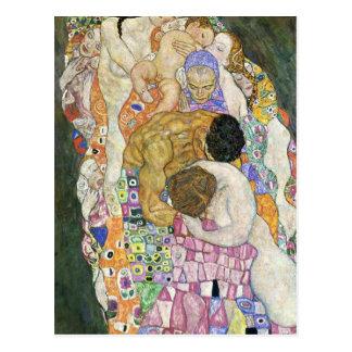 Död och liv av Gustav Klimt Vykort