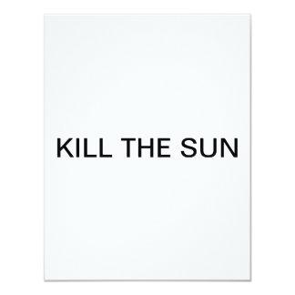 Döda solen 10,8 x 14 cm inbjudningskort
