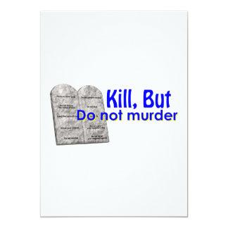 Dödan men mördar inte 12,7 x 17,8 cm inbjudningskort