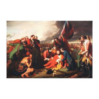 Döden av General Wolfe vid Benjamin väster 1770 Canvastryck