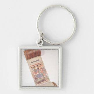 Dödsrunarulla, 1406 fyrkantig silverfärgad nyckelring