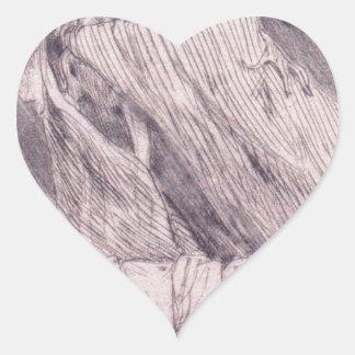 Dödsstötar vid Felicien Rops Hjärtformat Klistermärke