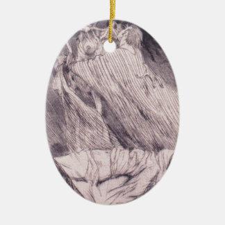 Dödsstötar vid Felicien Rops Ovalformad Julgransprydnad I Keramik
