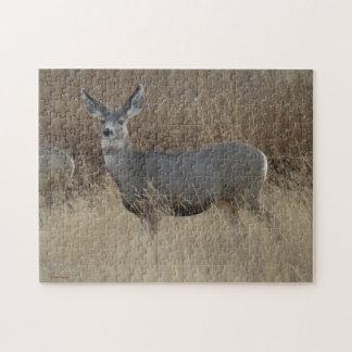 Doe för hjort för Mule D0014 Jigsaw Puzzles