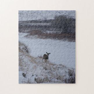 Doe för hjort för Mule D0016 Jigsaw Puzzle