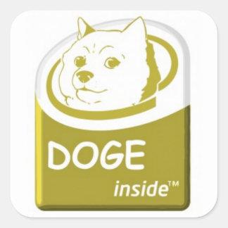 Dogeinsidaklistermärke Fyrkantigt Klistermärke