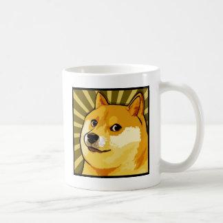 Dogen Meme kvadrerar Dogesjälvporträtt Kaffemugg