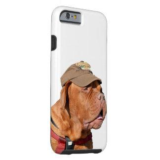 Dogue de Bordeaux, fransk Mastiffhund i hatt Tough iPhone 6 Skal