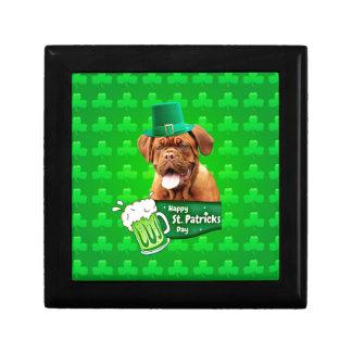Dogue De Bordeaux Mastiff St Patrick dag Smyckeskrin
