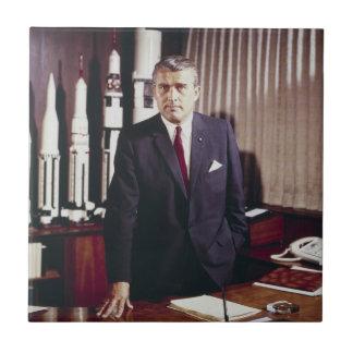 Doktor Wernher von Braun Porträtt Kakelplatta
