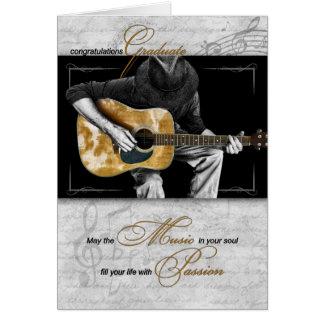 Doktorand- grattis för musik - gitarrist hälsningskort