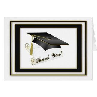 Doktorand- svart tack hälsnings kort