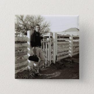 Doktoranseende vid ett staket standard kanpp fyrkantig 5.1 cm