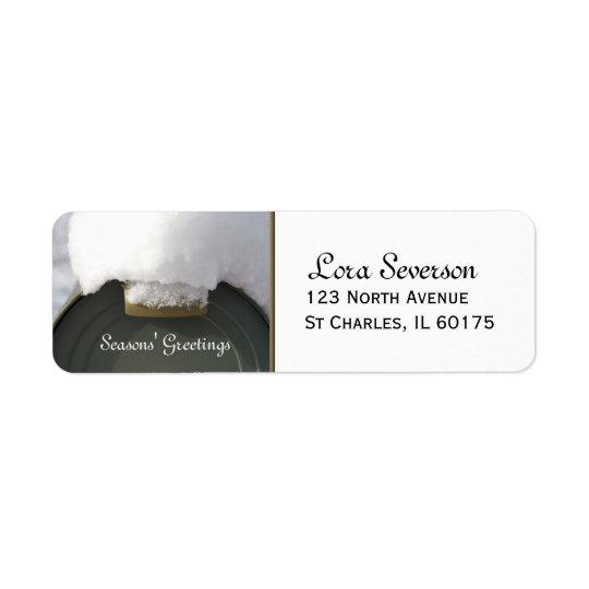 Dold brevlådareturadress för snö returadress etikett