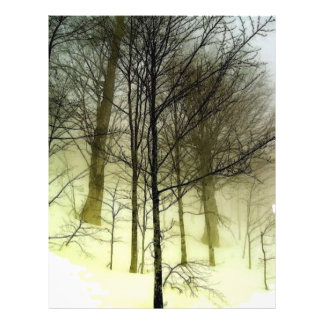 Dold trädreklamblad för snö reklamblad