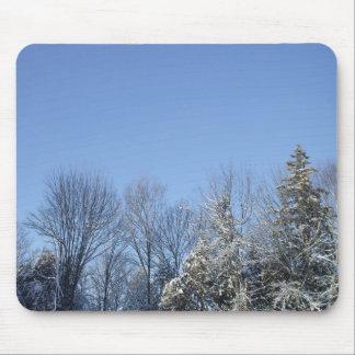 Dolda träd för frost musmatta