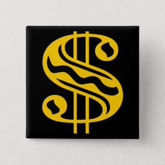 Dollaren undertecknar - bärnsten standard kanpp fyrkantig 5.1 cm