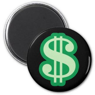 Dollaren undertecknar magnet rund 5.7 cm