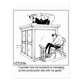 Domaren använder en bulta, inte en Gavel Vykort