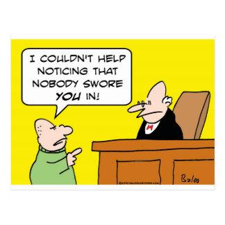 domaren inget svor dig in vykort
