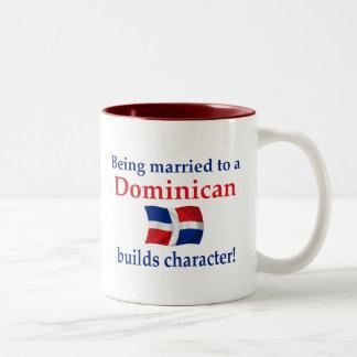 Dominikanen bygger teckenet Två-Tonad mugg
