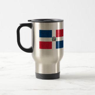Dominikansk flagga för modernt mönster resemugg