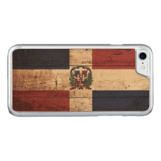 Dominikanska republiken sjunker på gammalt Wood Carved iPhone 7 Skal