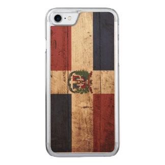 Dominikanska republiken sjunker på gammalt Wood Carved iPhone 7 Skal