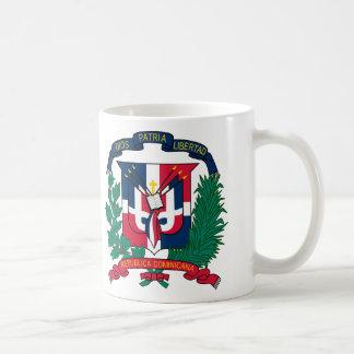Dominikanska republikenvapensköldmugg kaffemugg