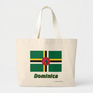 Dominikisk flagga med namn tygkasse