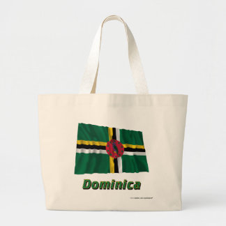 Dominikisk vinka flagga med namn tote bag