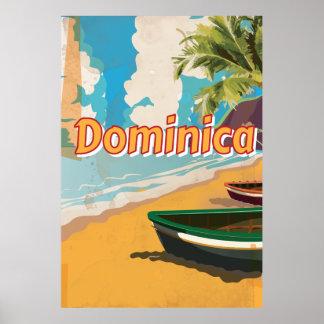 Dominikisk vintagesemesteraffisch poster