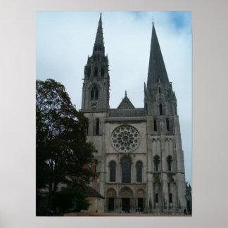Domkyrka av Chartres Poster