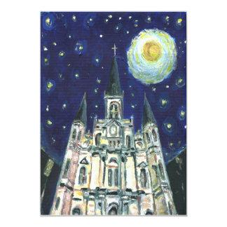 Domkyrka för Starry natt 12,7 X 17,8 Cm Inbjudningskort