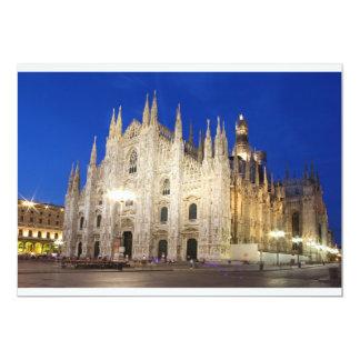 Domkyrka i Milan 12,7 X 17,8 Cm Inbjudningskort