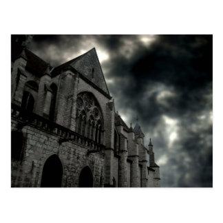 domkyrka med dramatisk himmel vykort