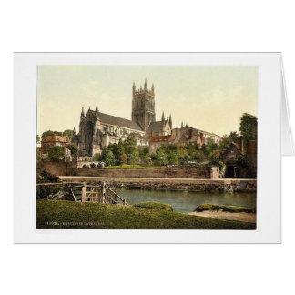 Domkyrka S.W., Worcester, England sällsynt Hälsningskort