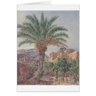 Domkyrkan av Capri av Rudolf von Alt Hälsningskort