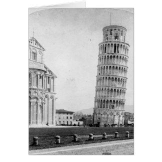 Domkyrkan & campanilen Pisa, italien Hälsningskort