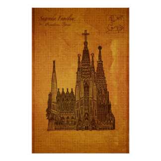 Domkyrkor: Sagrada Fam�lia, Barcelona Poster