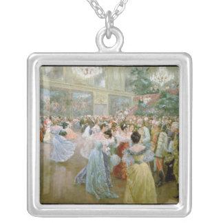 Domstolboll på Hofburgen, 1900 Silverpläterat Halsband