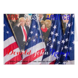 Donald J. Trumf 45th president av USA Hälsningskort