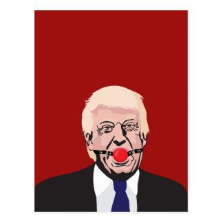 Donald J. Trumf med den röda gagen - DIY Vykort