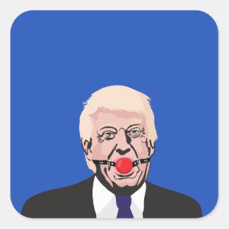 Donald J. Trumf med gagen - tillfoga din egna text Fyrkantigt Klistermärke