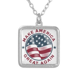 Donald Trump 16 Silverpläterat Halsband