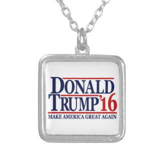 Donald Trump 2016 'gör Amerika underbara Again Silverpläterat Halsband