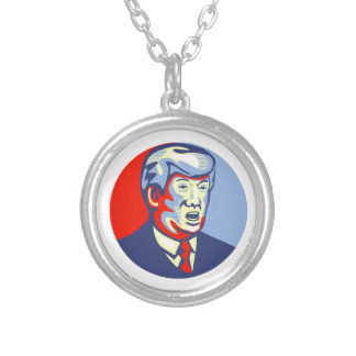 Donald Trump 2016 republikanska kandidat Silverpläterat Halsband