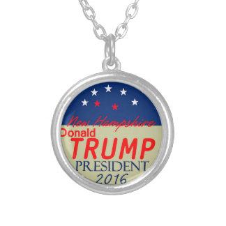 Donald Trump 2016 Silverpläterat Halsband
