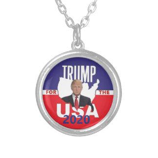 Donald Trump 2020 Silverpläterat Halsband